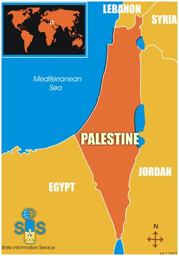 map before israel was created